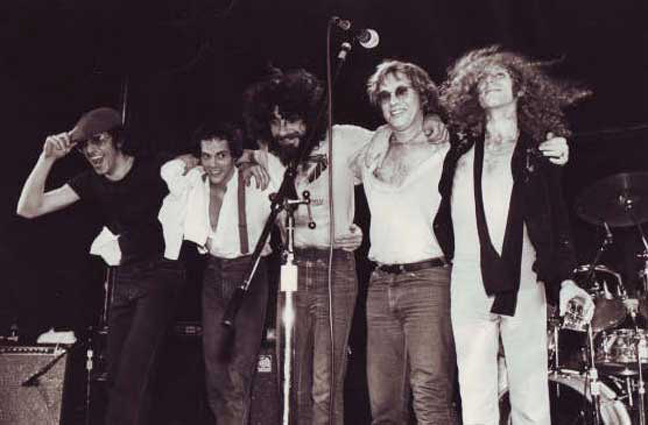 David Landau, Stanley Sheldon, Rick Marotta, Warren Zevon, Waddy Wachtel - On Tour 1978