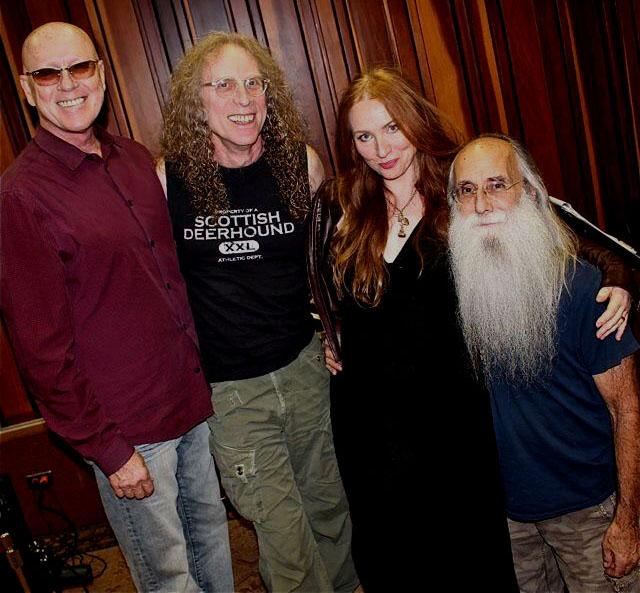Russ Kunkel, Waddy Wachtel, Judith Owen, Leland Sklar - Rehearsal at Village Recorders