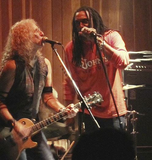 Waddy Wachtel, Bernard Fowler (photo by Emily Aguilar)