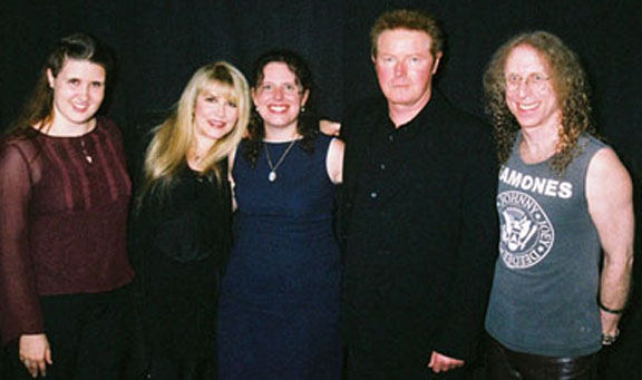 Kristin, Stevie Nicks, Nancy, Don Henley, Waddy Wachtel at AHI Concert 2005