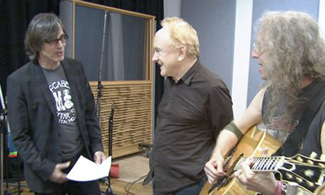 Jackson Browne, Peter Asher, Waddy Wachtel recording