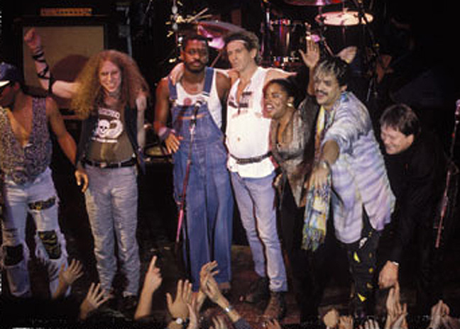 Ivan Neville, Waddy Wachtel, Steve Jordan, Keith Richards, Sarah Dash, Babi (Bobby) Floyd, Bobby Keys, Main Offender Tour, Paris 1992