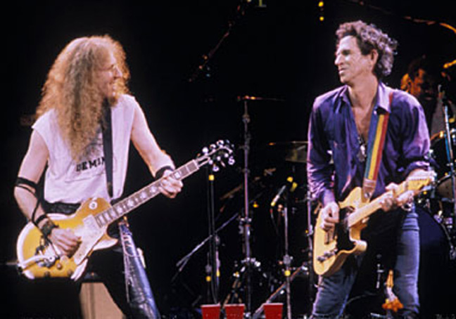 Waddy Wachtel, Keith Richards 1993 (Photo by: Paul Natkin)