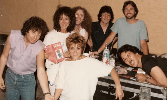 Sheri Malloy, Waddy Wachtel, Billy Joe Walker, David Malloy, George Hawkins, Rosanne Cash 1985