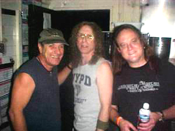 Brian Johnson, Waddy Wachtel, Michael Kenney at The Joint in 2004
