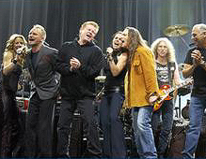Sheryl Crow, Sting, Don Henley, Timothy B. Schmidt, Waddy Wachtel, Jimmy Buffett