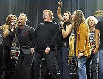 Sheryl Crow, Sting, Don Henley, Timothy B. Schmidt