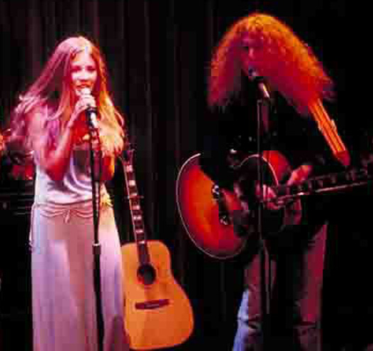 Stevie Nicks, Waddy Wachtel 1972 at The Troubadour Buckingham Nicks (Photo by Willie Gibson)