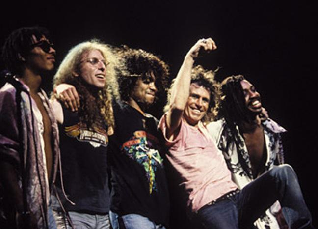 Ivan Neville, Waddy Wachtel, Charley Drayton, Keith Richards, Steve Jordan, Talk Is Cheap Tour 1988 Photo by:  Denis O'Regan