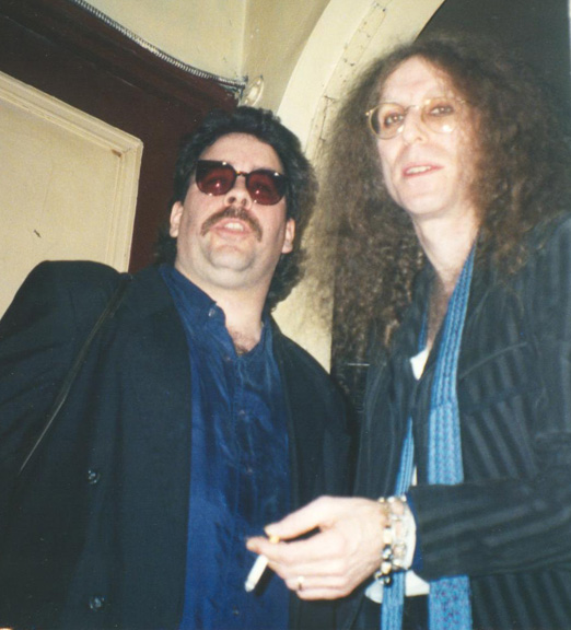 Eddie and Waddy Wachtel at an X-Pensive Wino's gig 1993