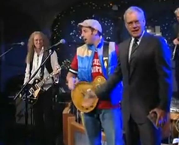 Waddy Wachtel, Adam Sandler, David Letterman -  Late Night With David Letterman 2008