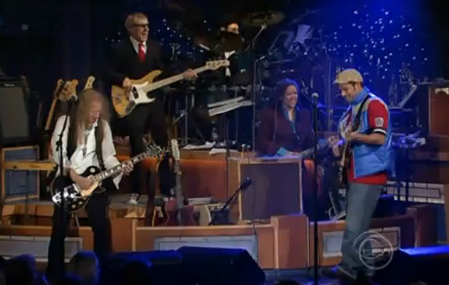 Waddy Wachtel, Will Lee, Anton Fig, Felicia Collins, Adam Sandler -  Late Night With David Letterman 2008