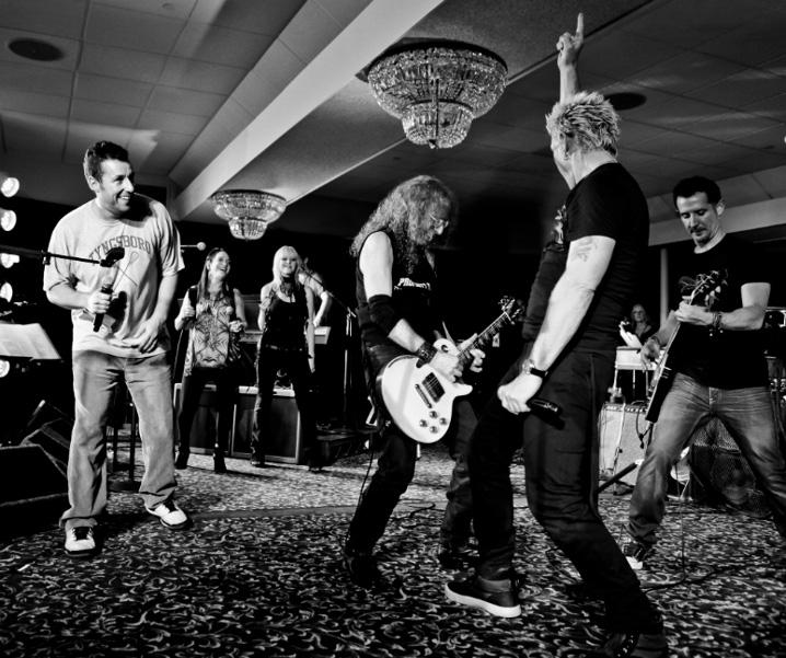 Adam Sandler, Betsy Hammer, Mindi Abair, Waddy Wachtel, Billy Idol, Tommy Gargotta 12/13/12 at the Happy Madison Holiday Party