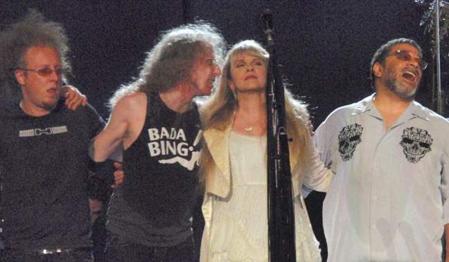 Jimmy Paxson, Waddy Wachtel, Stevie Nicks, Lenny Castro - Atlanta 6/10/08