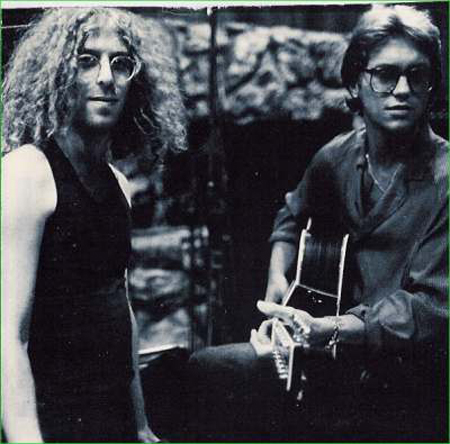 Waddy Wachtel and Gerry Beckley recording America 