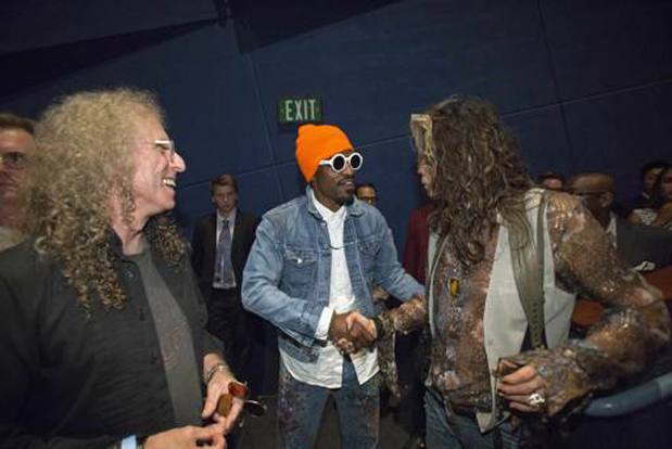 Waddy Wachtel, Andre Benjamin, Steve Tyler at the premiere on 9/22/14 at the Arclight Theater, Hollywood CA (Photo by Mario Anzuoni)