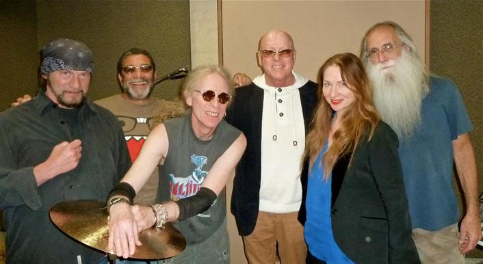 David Z, Lenny Castro, Waddy Wachtel, Russ Kunkel, Judith Owen, Leland Sklar - recording session