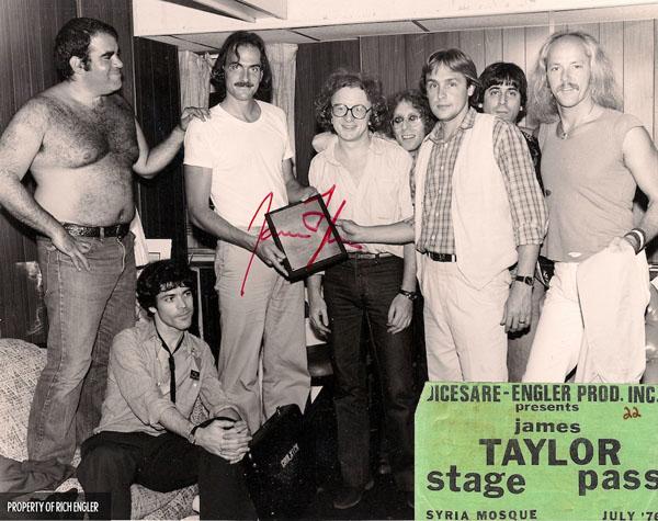 Don Grolnick, David Sanborn, James Taylor, Peter Asher, Waddy Wachtel, Rich Engler, Danny Kortchmar, Russ Kunkel 1979 Flag Tour