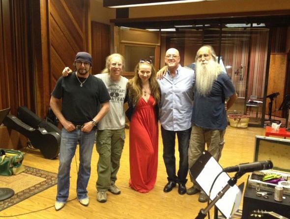 David Z, Waddy Wachtel, Judith Owen, Russ Kunkel, Leland Sklar - recording session