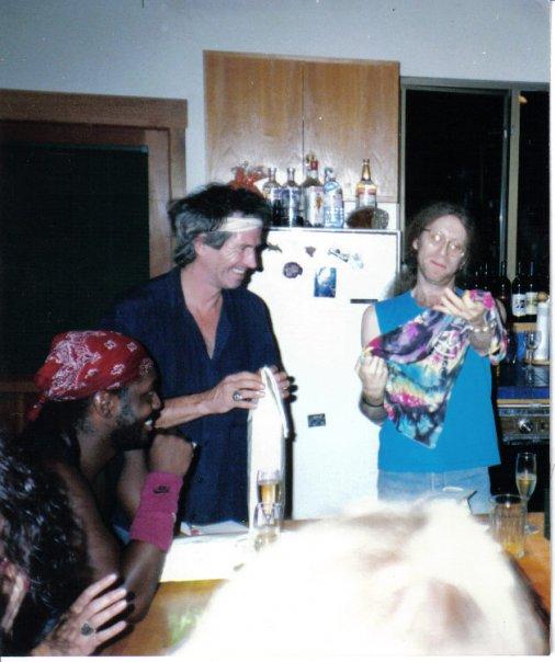 Steve Jordan, Keith Richards, Waddy Wachtel 1992 - while recording