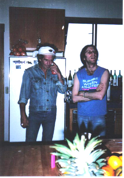 Keith Richards, Waddy Wachtel 1992 - while recording