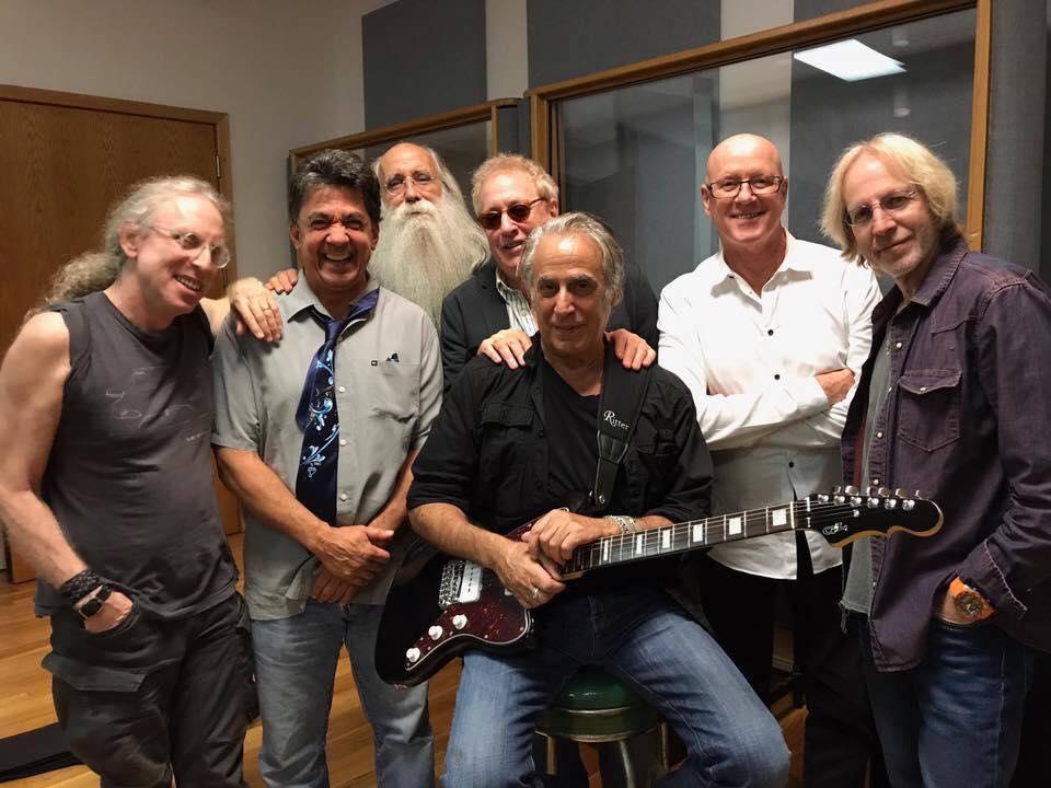 Waddy Wachtel, Niko Bolas, Leland Sklar, Fred Molin, Danny Kortchmar, Russ Kunkel, Steve Postell - in the studio recording