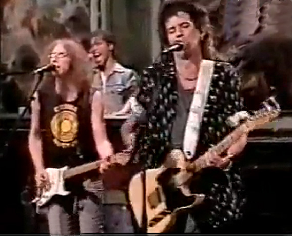 Waddy Wachtel, Ivan Neville, Keith Richards Saturday Night Live 1988