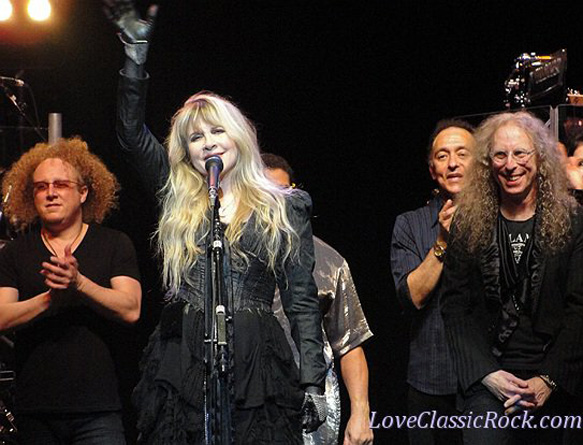 Jimmy Paxson, Stevie Nicks, Carlos Rios, Waddy Wachtel - Wiltern Theater 5/26/11 (Photo by Cindi Carter)