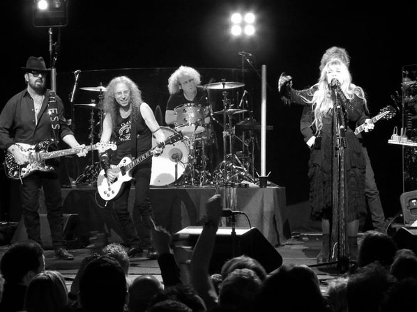 Dave Stewart, Waddy Wachtel, Jimmy Paxson, Stevie Nicks, Peter Stroud - Wiltern Theater 5/26/11 (Photo by Maria Younghans)