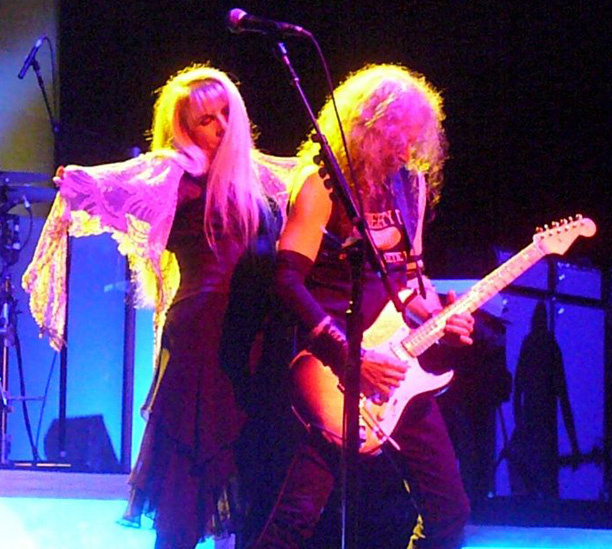 Stevie Nicks, Waddy Wachtel 7/15/12 (photo by Ken Hartsfield)