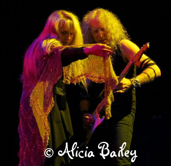 Stevie Nicks, Waddy Wachtel 7/6/12 (photo by Alicia Bailey)