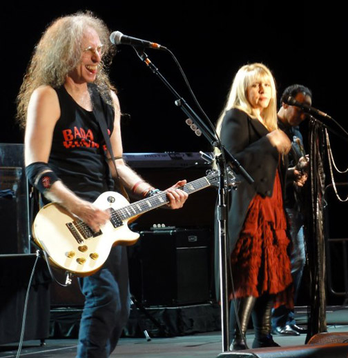 Waddy Wachtel, Stevie Nicks, Carlos Rios 8/27/10 Atlantic City - photo by Kirk Dupuis