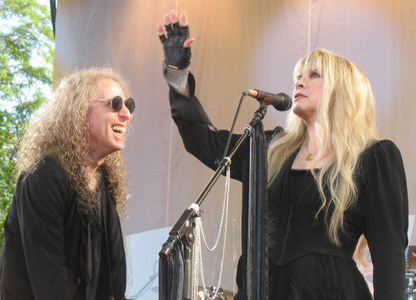 Waddy Wachtel, Stevie Nicks (photo by Amy Weisel)