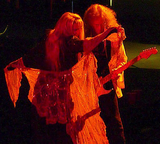 Stevie Nicks, Waddy Wachtel 8/4/10 Santa Barbara - photo by L. Paul Mann
