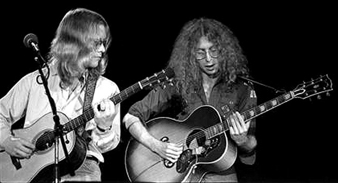 Warren Zevon, Waddy Wachtel 1977 (Photo by Steve Gladstone)